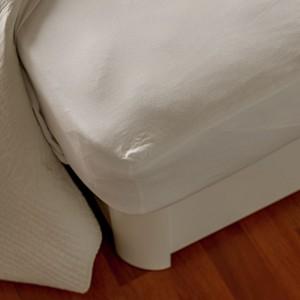 Sábana bajera ajustable. 50/50.  120 GR/M2. Blanca algodón