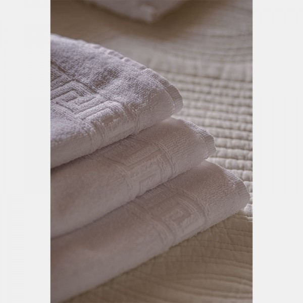 Toalla blanca lavabo 100% algodón, 450gr/m2