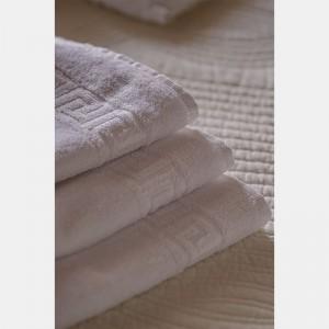 Toalla blanca lavabo 100% algodón, 450gr/m2 (Greca)