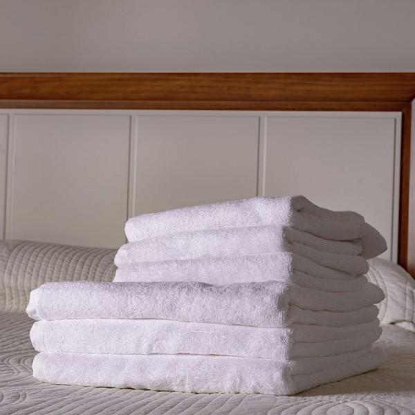 Toalla blanca lavabo 100% algodón, 500gr/m2