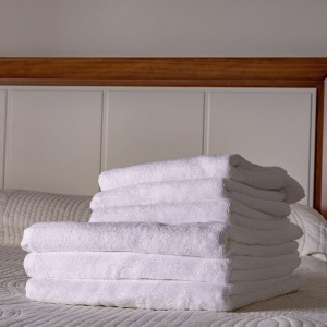 Toalla blanca lavabo 100% algodón, 500gr/m2 (Lisa)