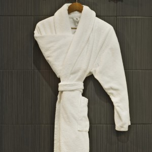 Bathrobe, white, 450 gr/m2