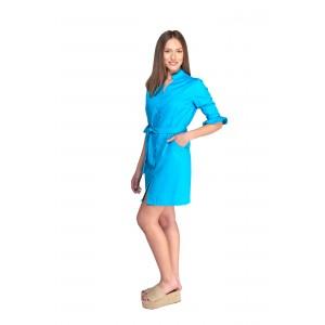 Uniforme azul turquesa mujer tipo bata