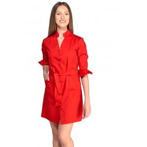 Uniforme rojo mujer tipo bata